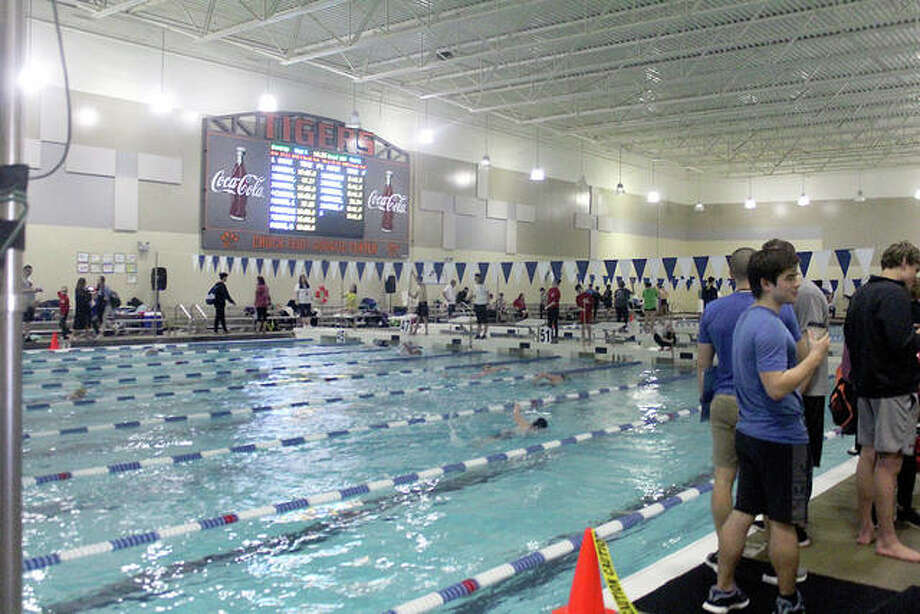 The Chuck Fruit Aquatic Center at the District 7 Sports Complex is the site for this weekend's Heartland Area YMCA Swim Championships. Photo: Pete Hayes | The Telegraph