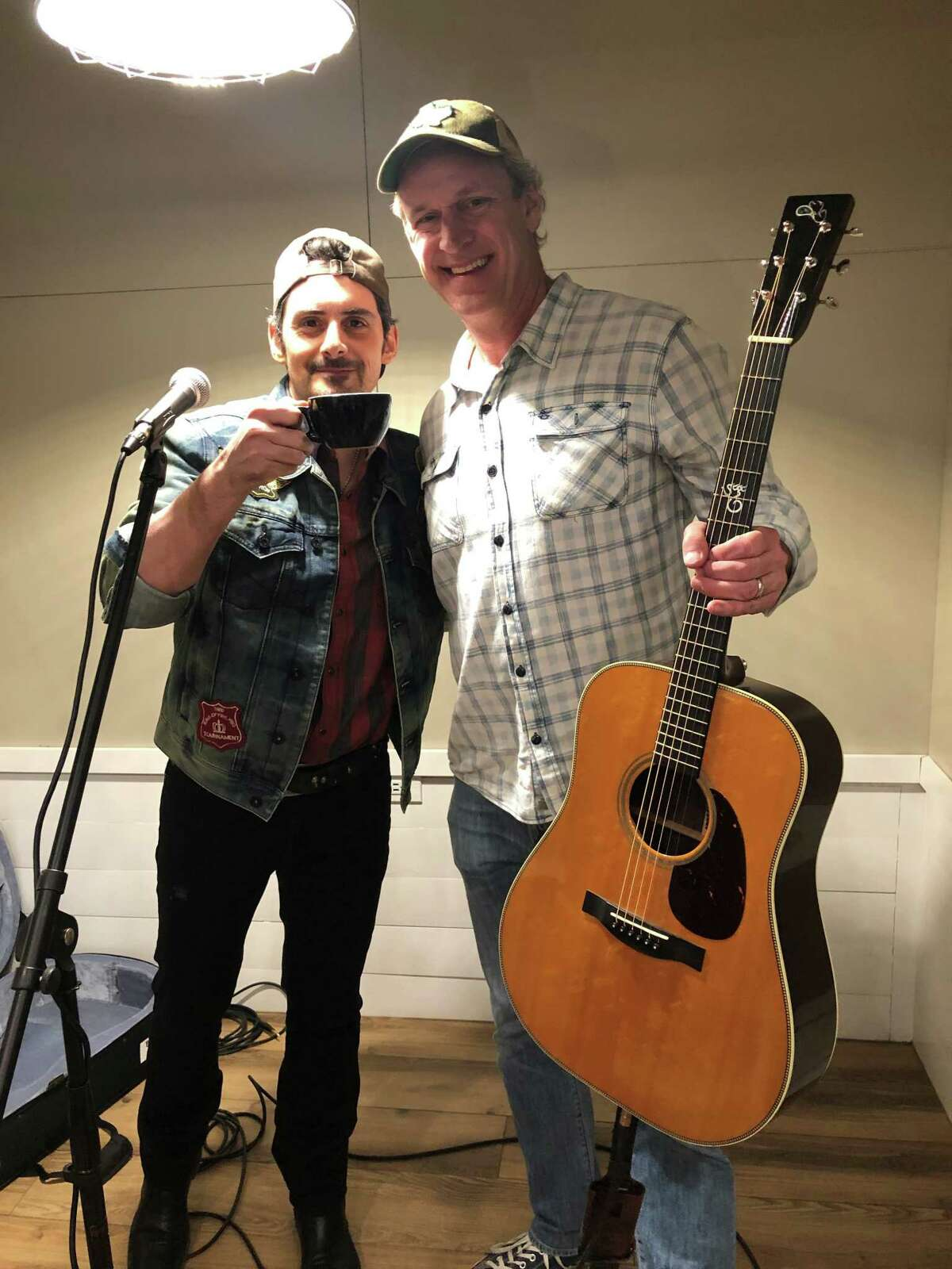 Blue Door Coffee Company owner Chad Gauntt is good friends with Brad Paisley, who popped in for a surprise gig.