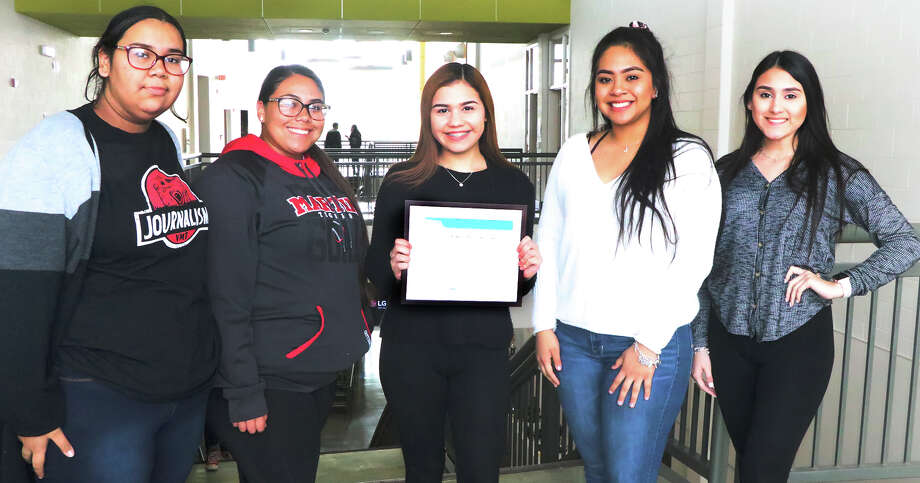 The Vidal M. Trevino School of Communications and Fine Arts student newspaper, the Magnet Tribune, received a national award from the National Scholastic Press Association. Photo: Courtesy
