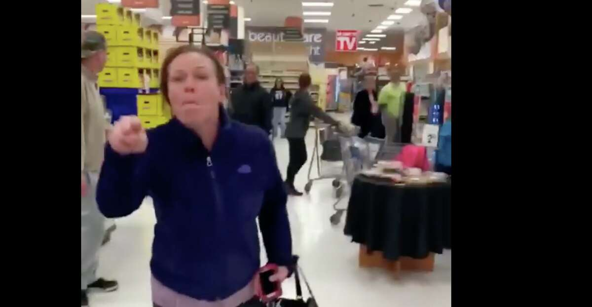 Racist tirade caught on video costs Hamden school employee her job A New Haven resident and Hamden Public Schools employee resigned after she used racial epithets in an encounter with two people of color at a grocery store, an incident shared in a video in March that thousands of Facebook users re-posted. The video shows a white woman, whom Superintendent Jody Goeler identified as former Hamden Public Schools employee Corinne Terrone, using racial slurs. In the footage, Terrone yells the n-word three times and spits at two people, a black man and woman. It is unclear how the encounter began. Read more.
