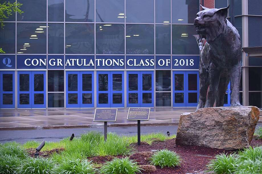 Images from the 87th commencement exercises at Quinnipiac University school of health sciences, Saturday, May 19, 2018, at TD Bank Sports Center in Hamden. Photo: Catherine Avalone / Hearst Connecticut Media / New Haven Register