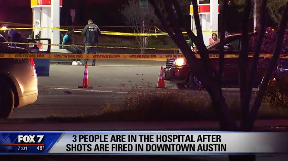 Austin police are investigating a shooting that left three injured Sunday morning, March 17, 2019. Photo: Screen Grab Fox 7