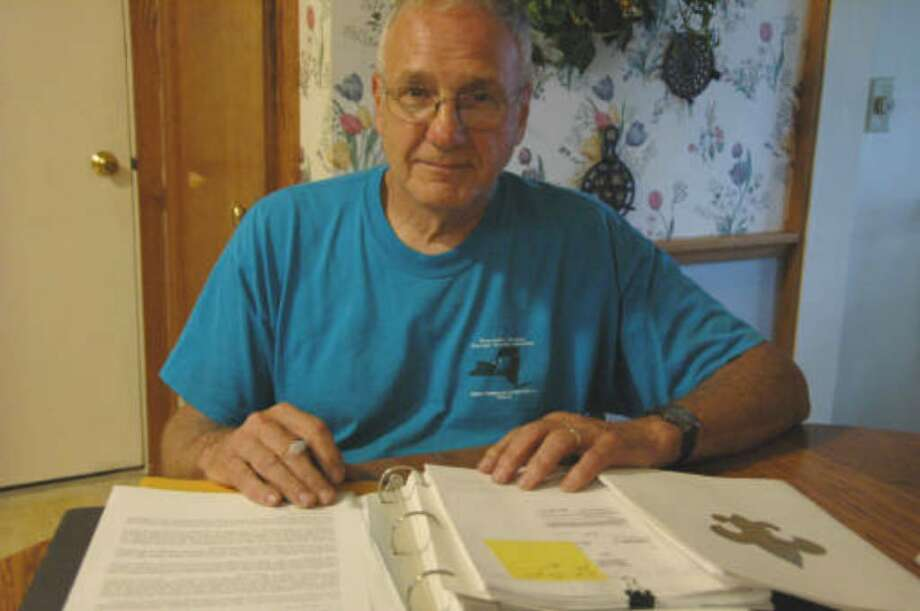 Richard Knaul of Auburn, a former Boy Scout leader, was expelled from the Boy Scouts of America after he raised opposition to the purchase of a new office for the local Boy Scout council. (Nadja Drost / Times Union)