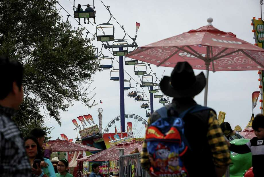 Thousands of people visit the carnival on the last day of the Houston Livestock Show and Rodeo Sunday, March 17, 2019, in Houston. Photo: Jon Shapley, Staff Photographer / Staff Photographer / © 2019 Houston Chronicle