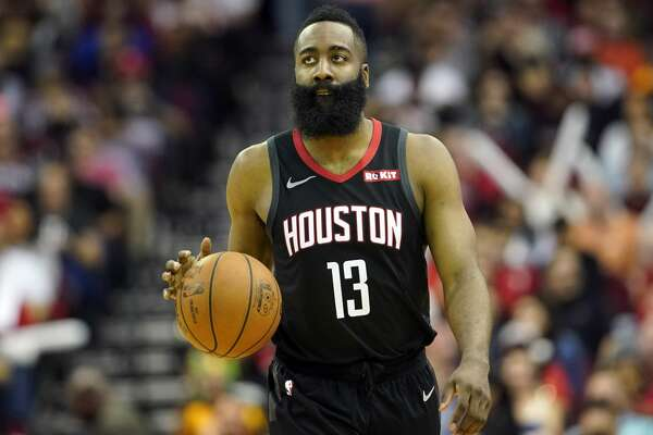 1ff0a1d9fb6 1of83PHOTOS  Rockets game-by-game Houston Rockets  James Harden (13) brings  the ball up the court against the Philadelphia 76ers during the second half  of ...