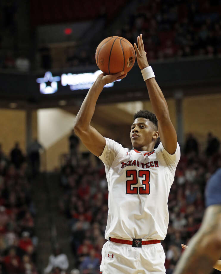 Texas Tech sophomore guard Jarrett Culver goes up for a shot during a regular season men's basketball home game against West Virginia on March 4 at United Supermarkets Arena in Lubbock. Culver, the Big 12 Player of the Year, and the Red Raiders open the NCAA Tournament against North Kentucky on Friday in Tulsa. Photo: Brad Tollefson/Lubbock Avalanche-Journal