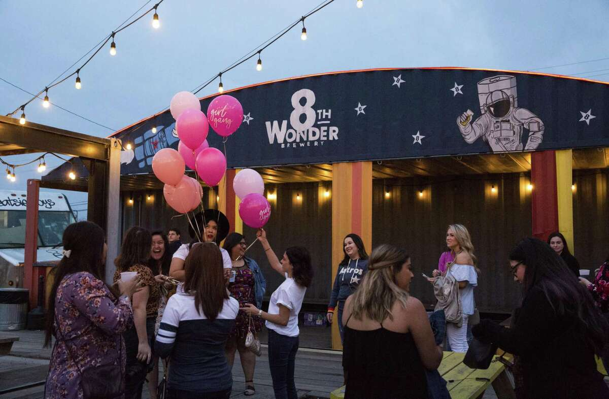 """The HTX Boss Babes hosts a """"Brews N Babes"""" mixer at 8th Wonder Brewery in honor of International Women's Day on Friday, March 8, 2019, in Houston. The HTX Boss Babes is a local collaboartion that runs on shine theory and the idea that there's room enough in this big city for countless creative women to succeed."""