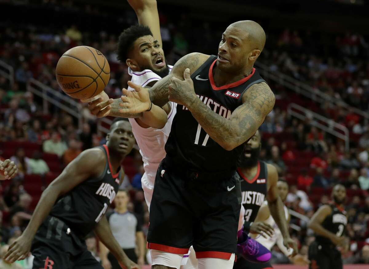 P.J. Tucker averaged 5.8 rebounds per game for the Rockets in 2018-19 while making 37.7 percent of his 3-pointers.