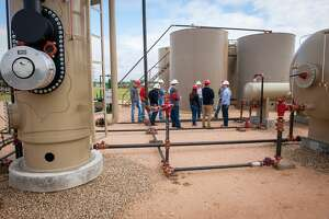Texas Tech drilled its original 4,000-foot test well at its Oilfield Technology Center in 2001, placing a pumping unit at the site and installing a fully functional tank battery and a simulated natural gas well and related processing facilities. The center offers more hands-on training to its students.