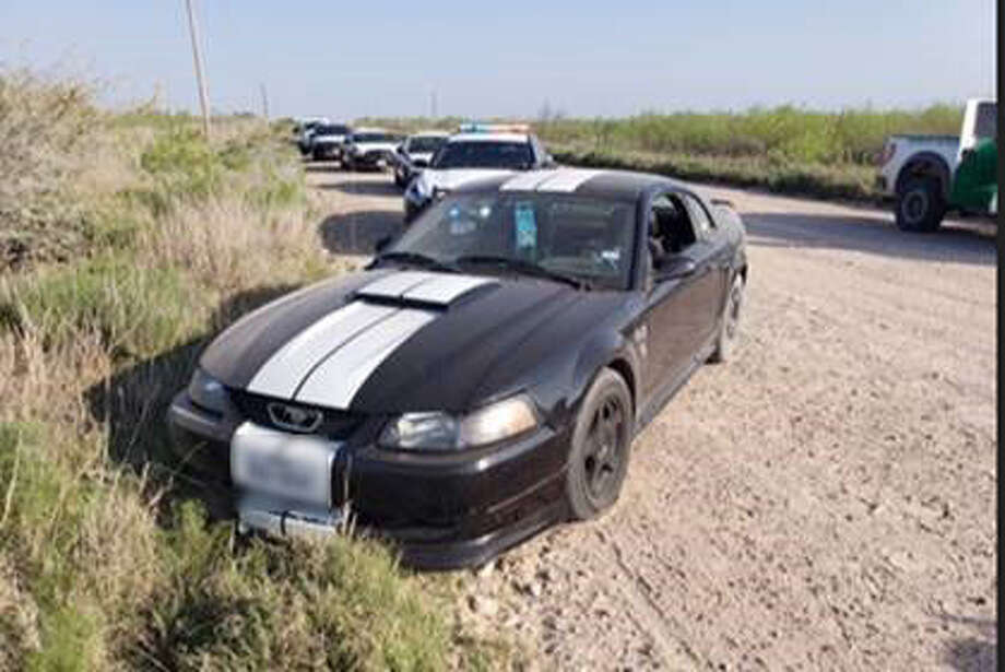 This black Ford Mustang failed to yield in an incident involving a human smuggling attempt. Photo: Courtesy