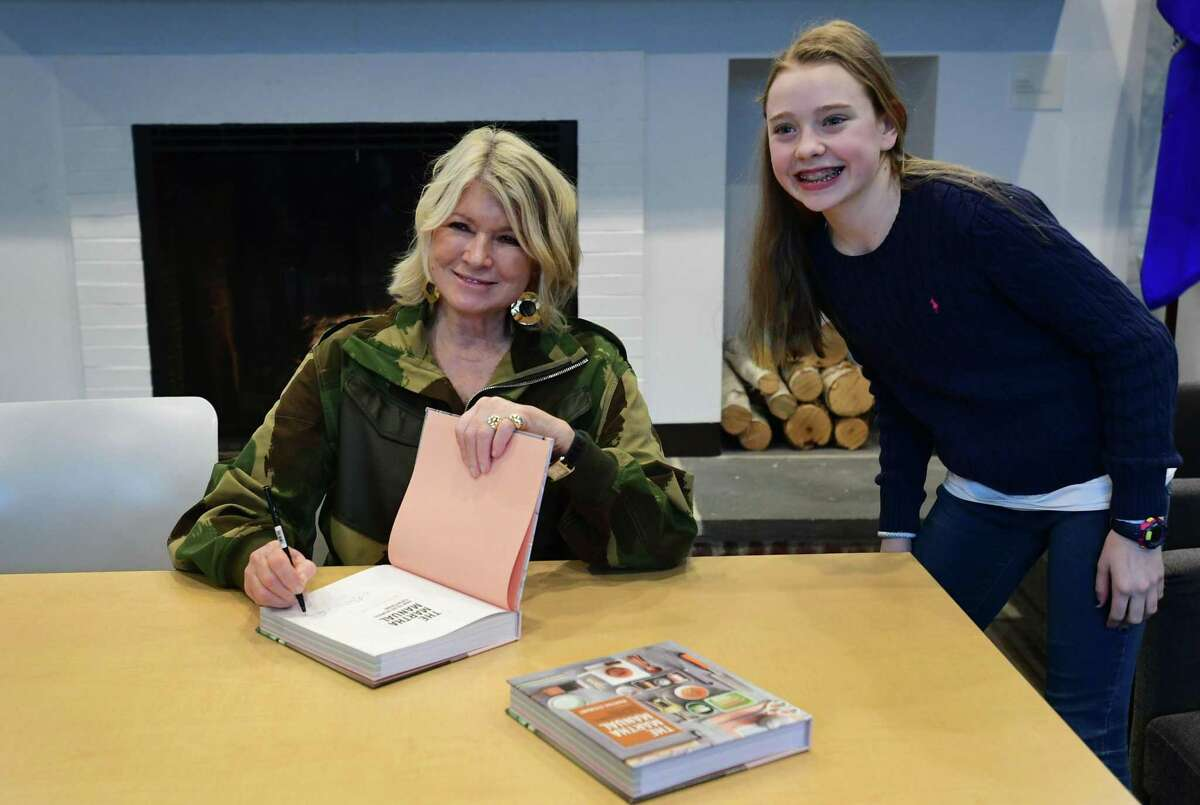 Martha Stewart visits the Wilton Library Tuesday, March 12, 2019, to sign copies of and discuss her book, The Martha Manual: How to Do (Almost) Everything, at the Wilton Library in Wilton, CT.