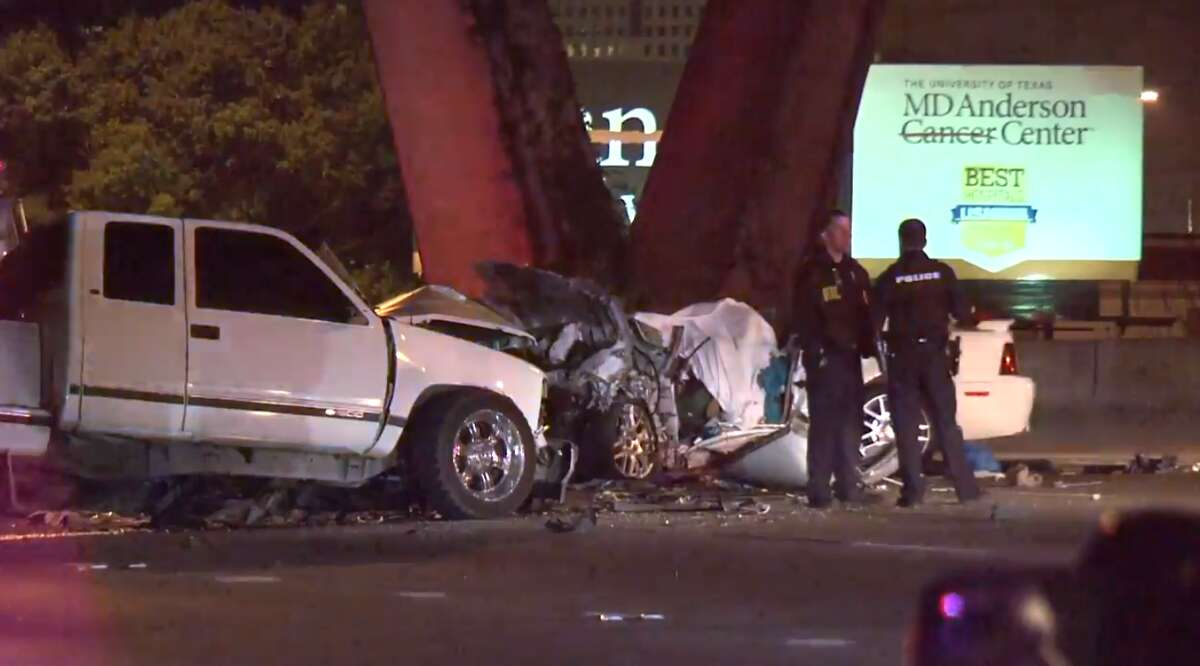 Police say the driver of a pickup showed signs of intoxication Monday morning after a deadly wrong-way crash just north of downtown Houston.