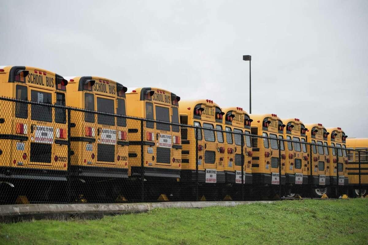 School buses.