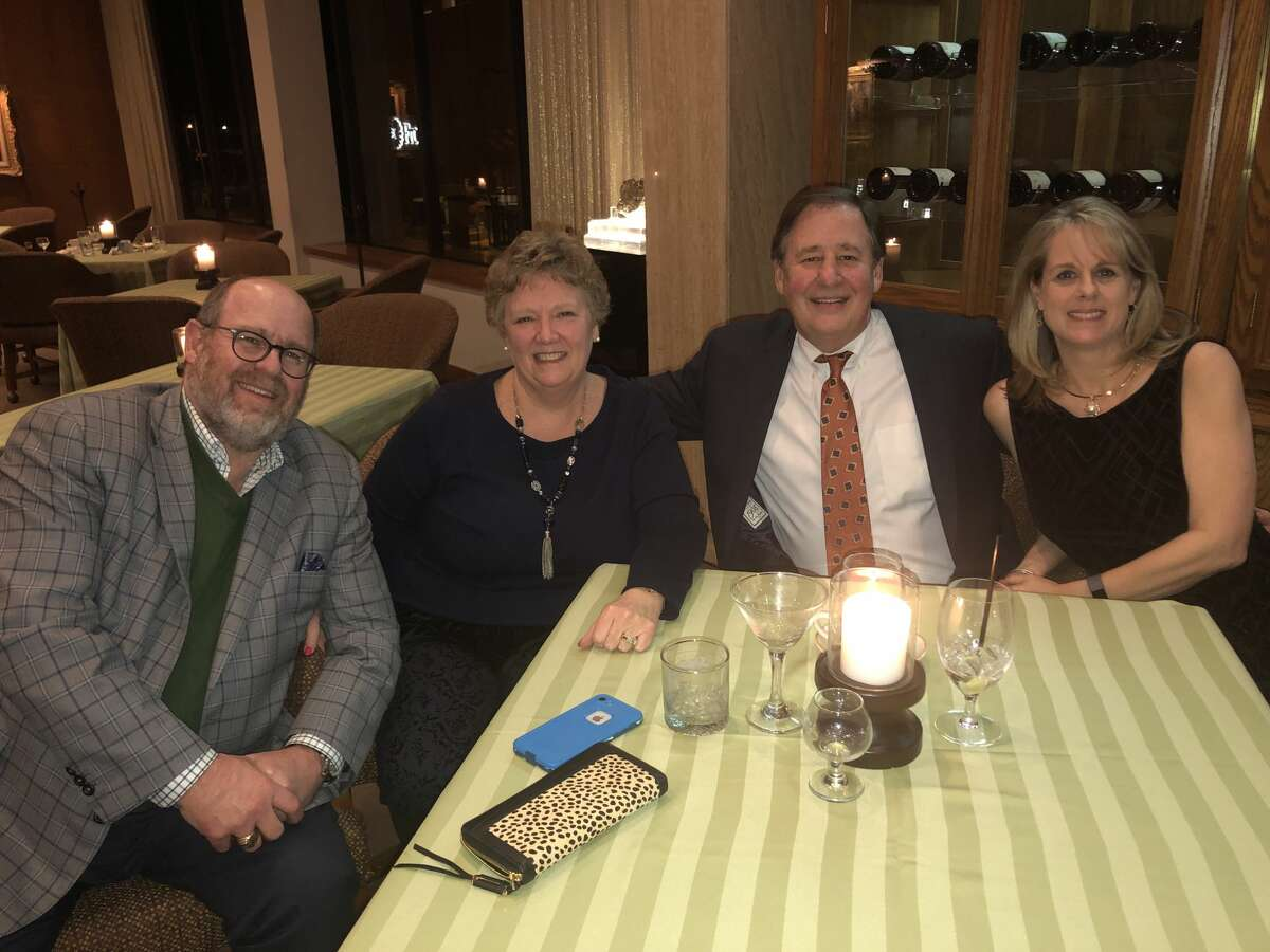 Petroleum Club: Jeff and Val Sparks and Joe and Mindy de Compiegne