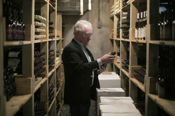 Raymond Haak in the wine cellar at Haak Vineyards & Winery in Santa Fe