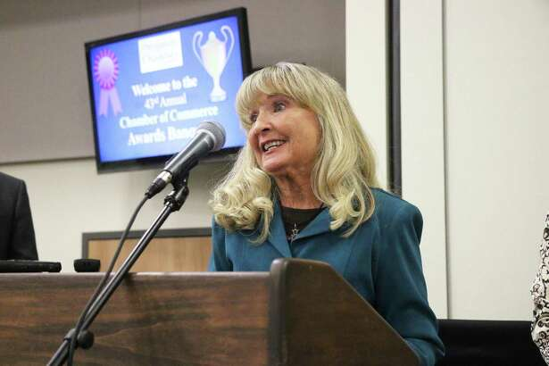 Julie Campbell was surprised as she was announced as the 2019 Citizen of the Year for the city of Dayton by the Liberty-Dayton Area Chamber of Commerce at their annual banquet.