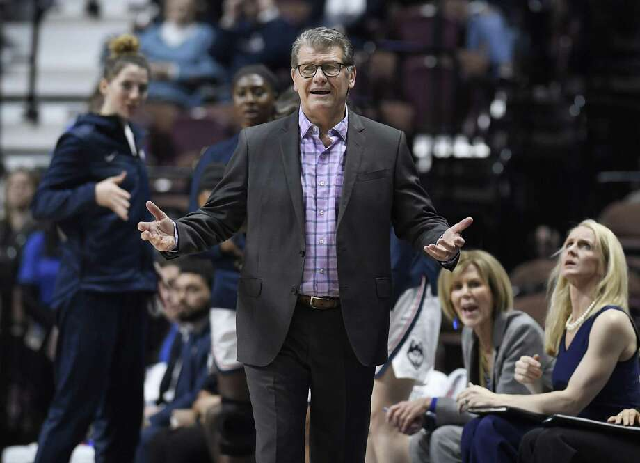 UConn coach Geno Auriemma is unhappy with how St. Joseph handled the firing of his close friend Phil Martelli. Photo: Jessica Hill / Associated Press / Copyright 2019 The Associated Press. All rights reserved