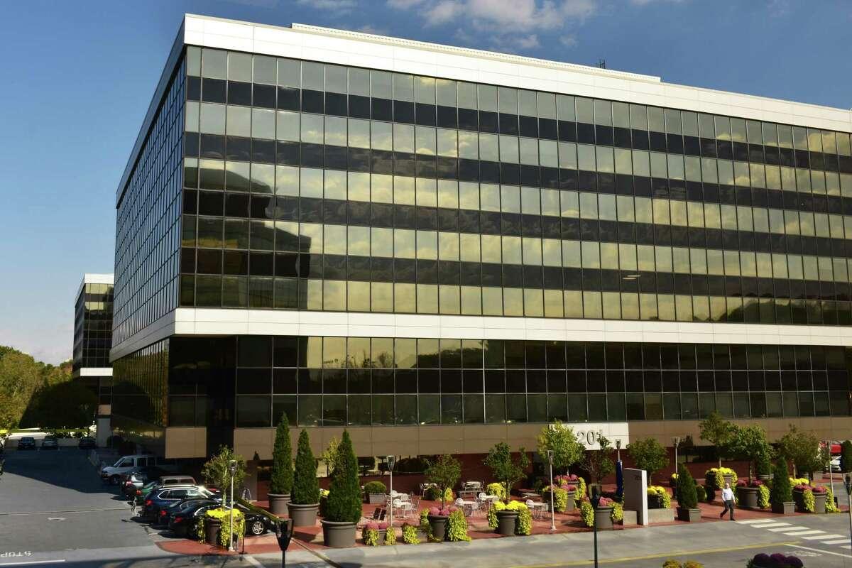 The headquarters building of Xerox at 201 Merritt 7 in Norwalk, Conn., in October 2018.
