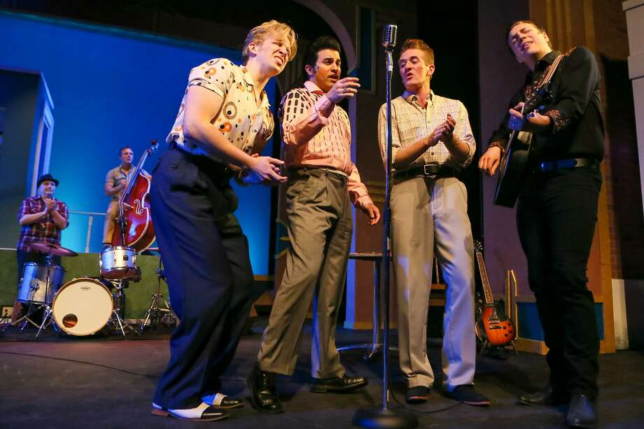 """Million Dollar Quartet"": This musical boasts a smokin' cast bringing their all to capture a little bit of rock 'n' roll history. The musical, directed by George Green, is based on the real-life jam session that took place in 1956 at Sun Records between Johnny Cash (Stephen Horst, from right), Carl Perkins (Tyson Gerhardt Hirsch), Elvis Presley (Kavan Hashemian) and Jerry Lee Lewis (Gavin Rohrer). The song list includes ""Blue Suede Shoes,"" ""Who Do You Love,"" ""Whole Lotta Shakin' Goin' On"" and ""I Walk the Line.""