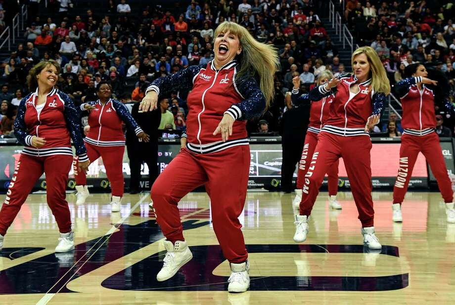 The Washington Wizdom dancers perform during the Washington Wizards game on March 15, 2019. Photo: Washington Post Photo By Toni L. Sandys / The Washington Post