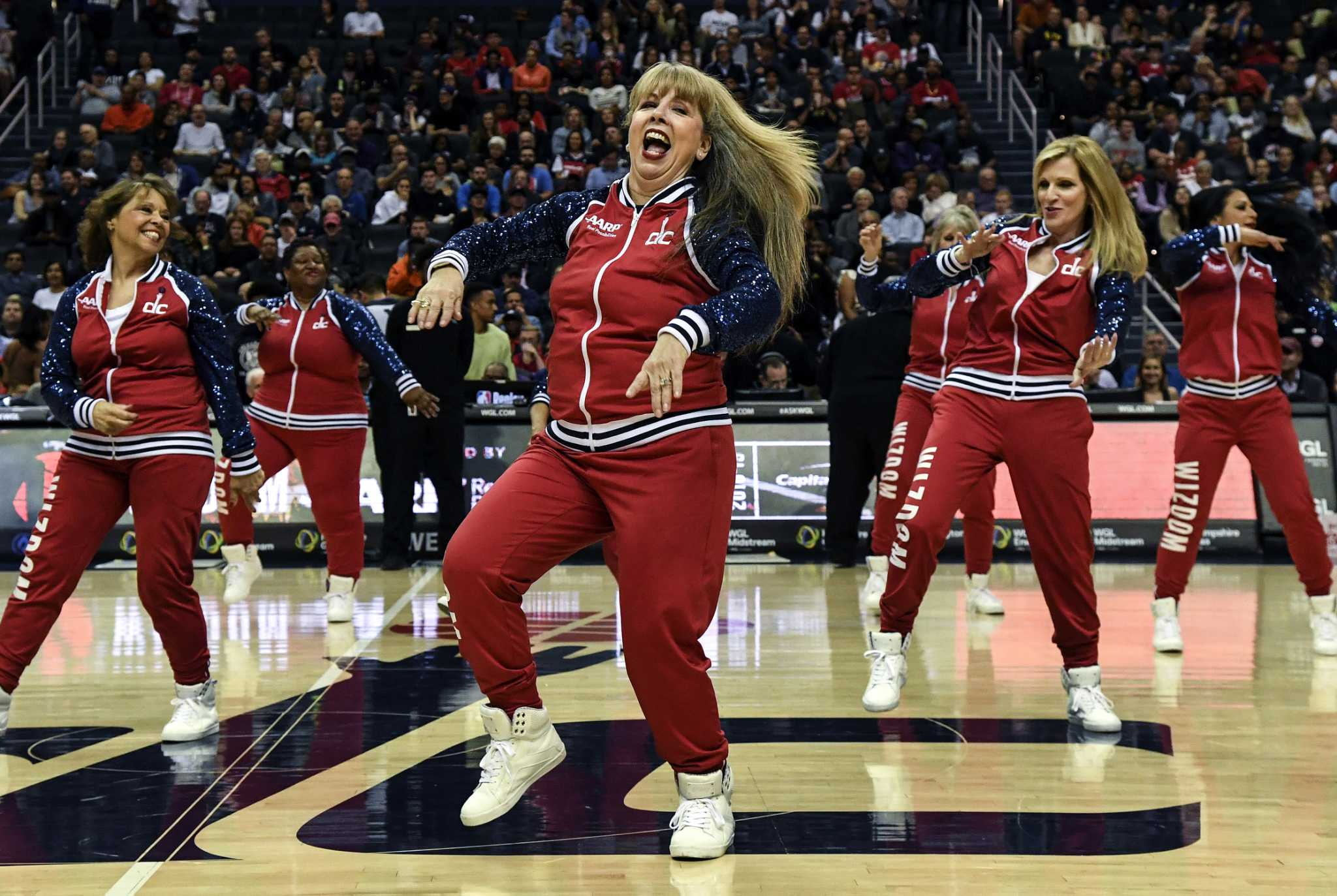 8af31f96b Washington Wizards  50-and-older dance squad is thrilling crowds ...