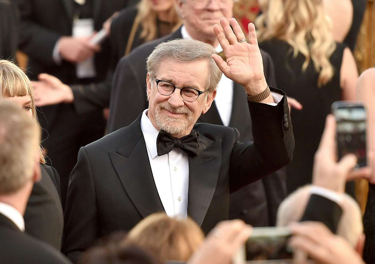 Filmmaker Steven Spielberg attends the 88th Annual Academy Awards at Hollywood & Highland Center on Feb. 28, 2016, in Hollywood, California. He is the executive producer of the new Hulu reboot of