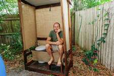 Rob Greenfield at his tiny home outside of Orlando.