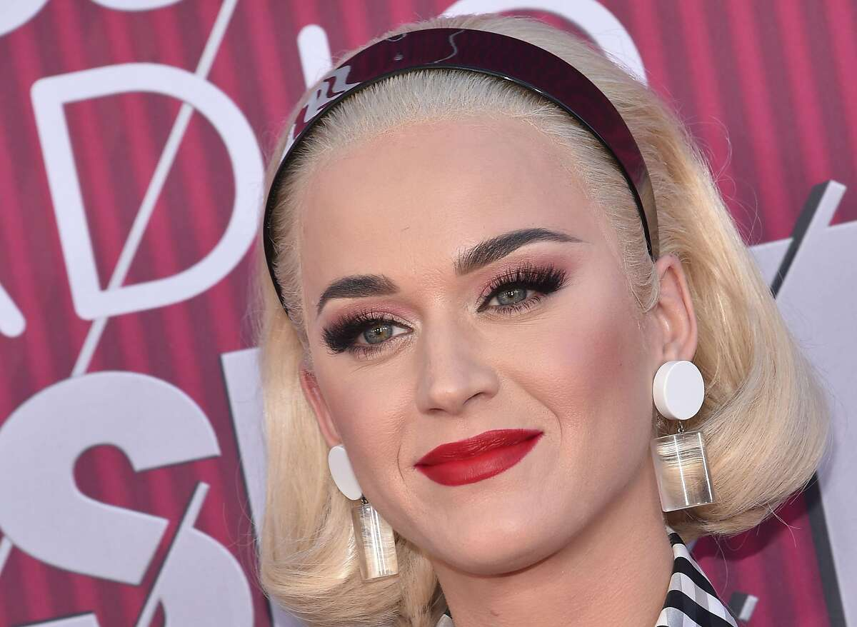 US singer Katy Perry arrives for the 2019 iHeart Radio Music Awards on March 14, 2019 in Los Angeles, California. (Photo by Chris Delmas / AFP)CHRIS DELMAS/AFP/Getty Images