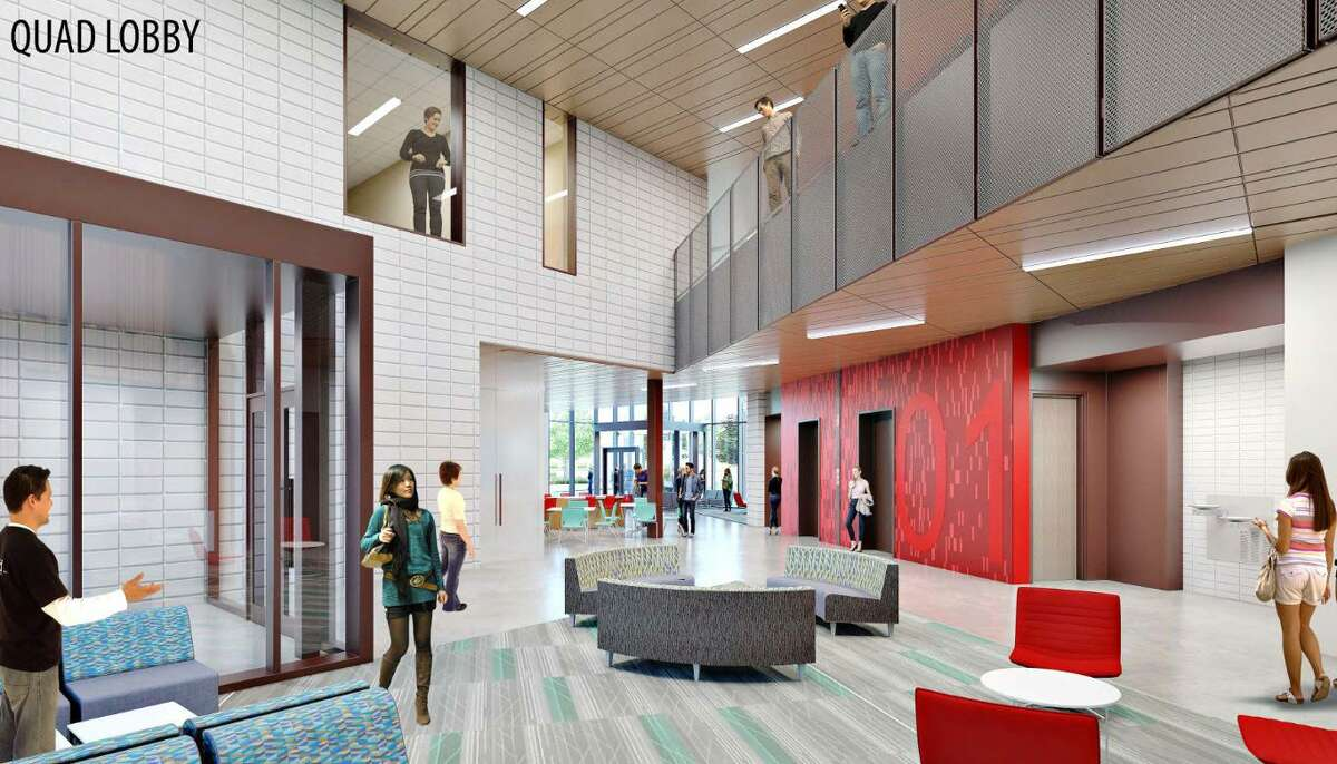 An artist's rendering shows what a new instructional site in Katy will look like. Starting this fall, both the University of Houston-Victoria and the University of Houston will offer classes at the site, located near the intersection of Interstate 10 and the Grand Parkway.