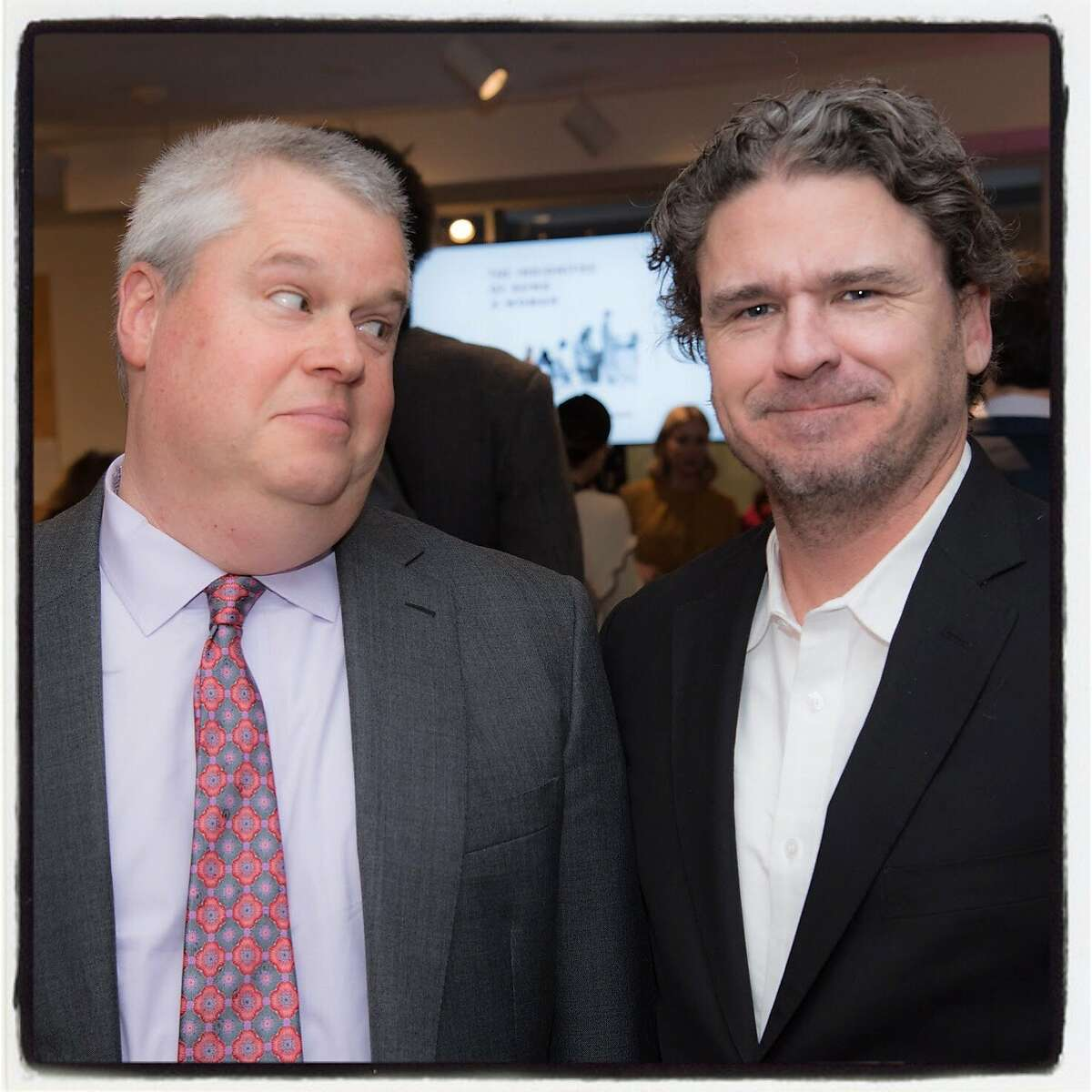 Library Laureate-authors Daniel Handler (left) and Dave Eggers. March 8, 2019.