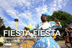 Fiesta Fiesta Where: Hemisfair, 434 S Alamo St When: 3-9 p.m. April 18, 2019 Tickets: Free