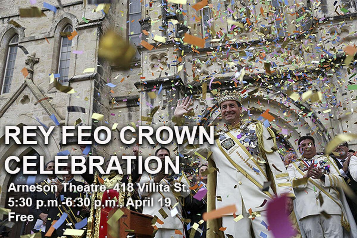 Rey Feo Crown Celebration Where:Arneson Theatre, 418 Villita St When:5:30-6:30 p.m., April 19 Tickets:Free