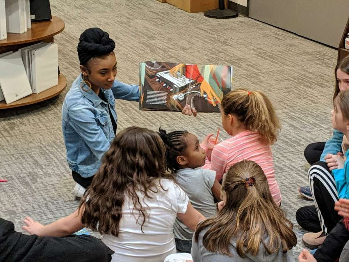 Cardinal Kids gives Wesleyan students an opportunity teach children in grades 1-5 about a subject area they are passionate about at the RJ Julia Bookstore on Main Street in Middletown.