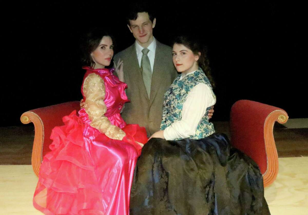 Sarah Giggar, left, Dan Fay and Rebecca Borowik appear in Curtain Call's production of