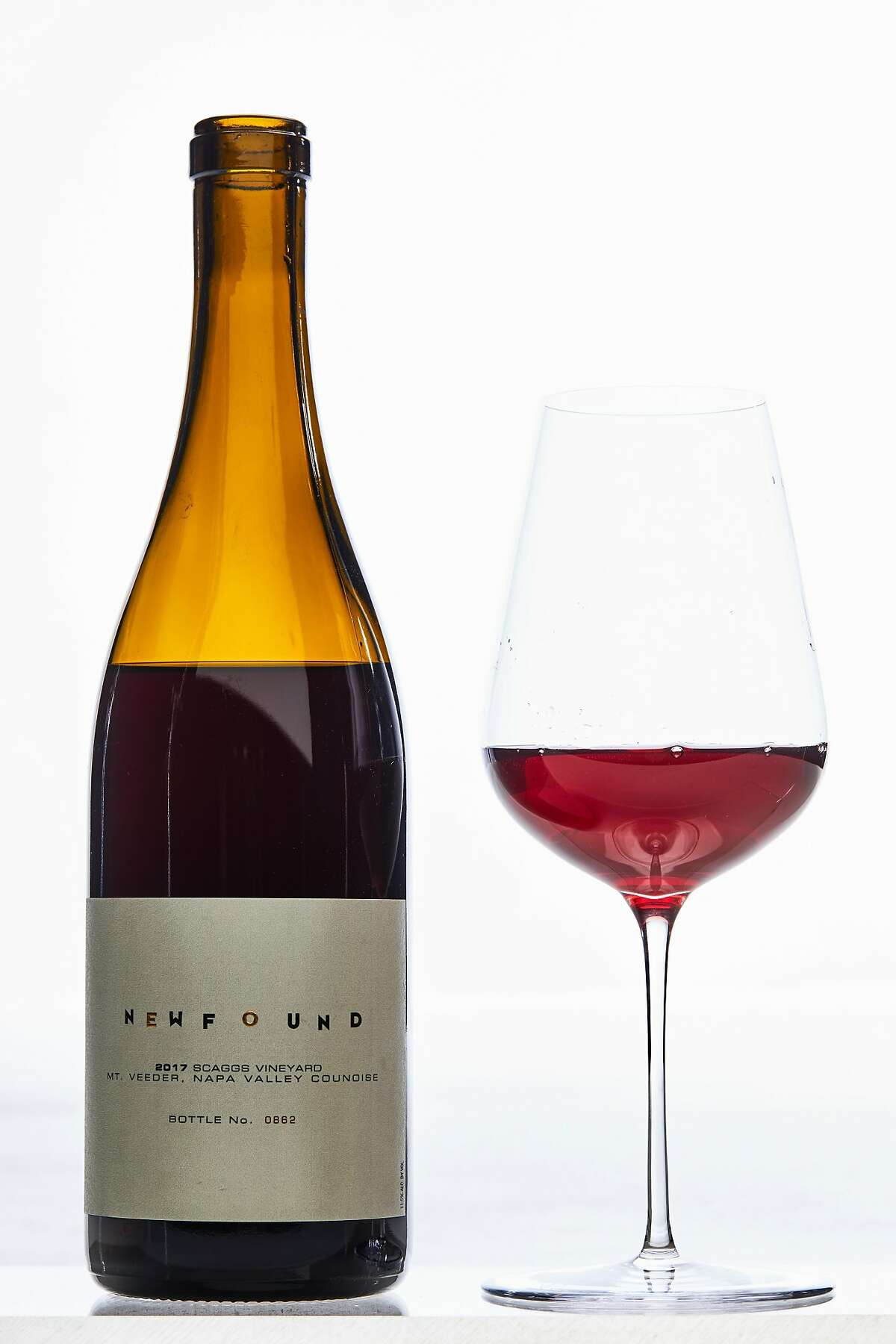 Newfound Mr. Veeder, Napa Valley Counoise is seen on Thursday, March 14, 2019 in San Francisco, Calif. A new trend in California wines is �translucent reds� which are lighter and brighter than traditional reds.