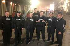 Members of the Montgomery County Precinct 4 Constable's Office's special response group were on standby at the Galveston Mardi Gras in February.