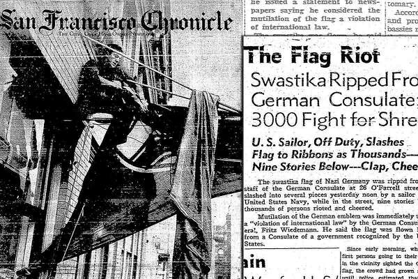 When Navy sailors in SF ripped a Nazi flag off the German consulate