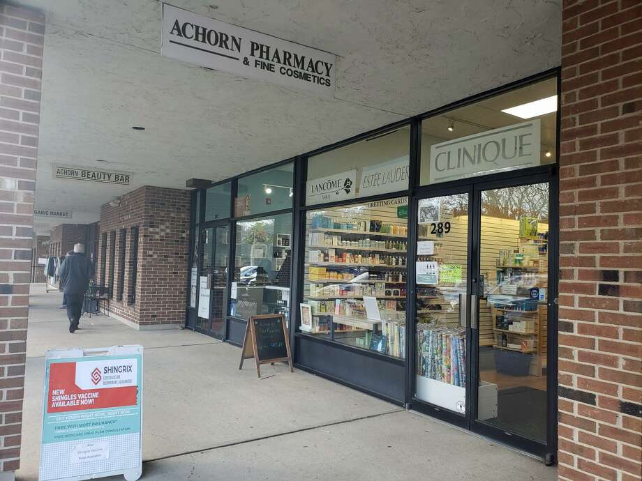 The Achorn Pharmacy and Achorn Beauty Bar in the Playhouse Square Shopping Center in Westport are set to merge into a single shop by June. Photo taken March 18, 2019. Photo: Liana Teixeira / Hearst Connecticut Media