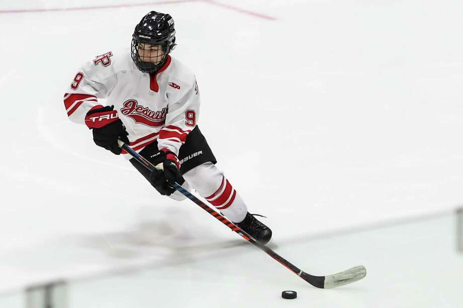 Aksel Sather and Fairfield Prep will face off against Notre Dame-West Haven in the Division I championship game on Tuesday at Ingalls Rink in New Haven. Photo: John McCreary / For Hearst Connecticut Media / Connecticut Post Freelance