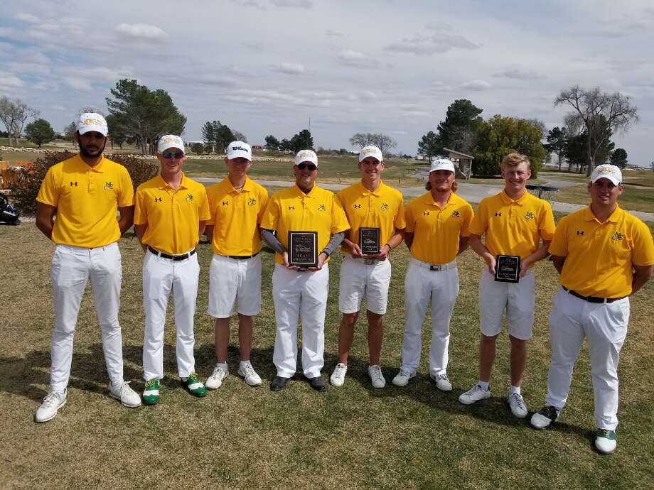 The Midland College men's golf team poses after winning the NMJC Thunderbird Invitational on Monday at Rockwind Community Links in Hobbs, N.M., by nine shots. Photo: Courtesy Photo