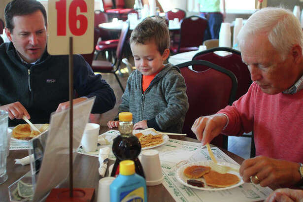 The annual Kiwanis Pancake and Sausage Day was held all day Monday at MacMurray College's McClelland Dining Hall. It also offered drive-through and business delivery.