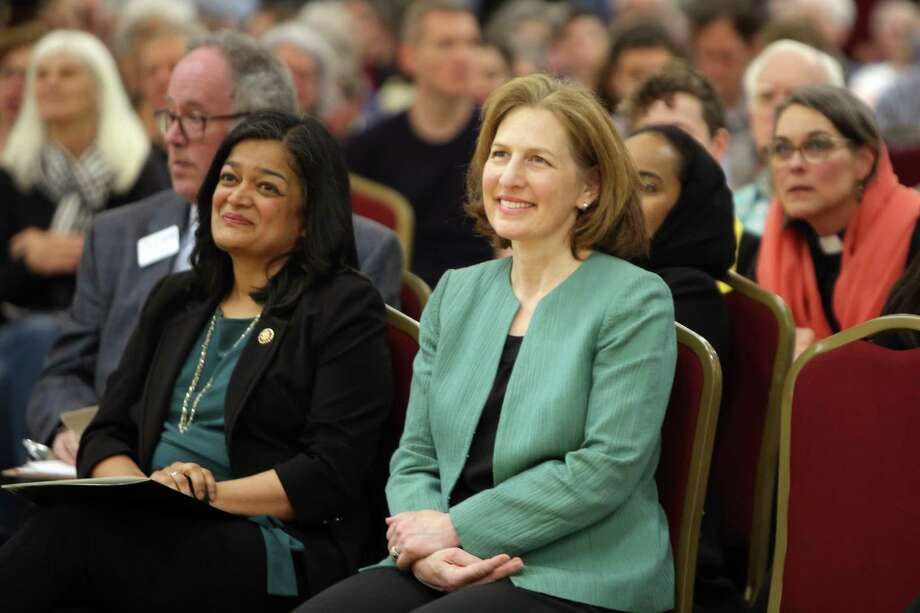 """U.S. Representative Kim Schrier (r): """"President Trump's action to unilaterally tax goods from Mexico is deeply misguided."""" Photo: Genna Martin / seattlepi.com"""