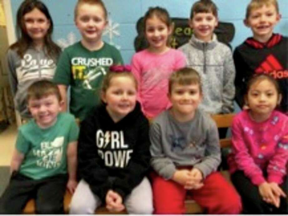 Bad Axe Elementary School announced its Citizens of the Month for February. They are, front row, Porter Seltz, Riley Koroleski, Conlan Staplton, and Althea (Ysa)Antaran; second row, Natalie Dondineau, Graydon Maurer, Abigail Vahovick, Mason Hurley, and Jackson Wolschlager. Missing from the photo are Isaiah Arntz and Emma Messing. (Submitted Photo)
