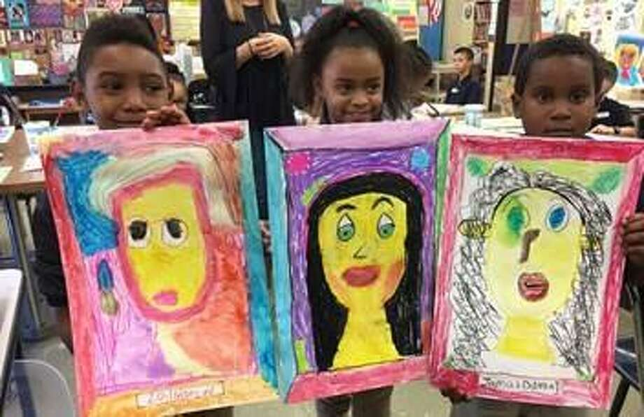"First-graders from Read Elementary School in Bridgeport will take part in the ""Mingled Arts"" program at the Greenwich Art Society. Photo: Contributed Photo"