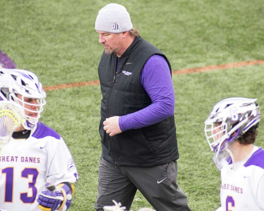 University at Albany head coach Scott Marr during the team's home opener against the University of Massachusetts Lowell on Saturday, March 16, 2019. (Jim Franco/Special to the Times Union)