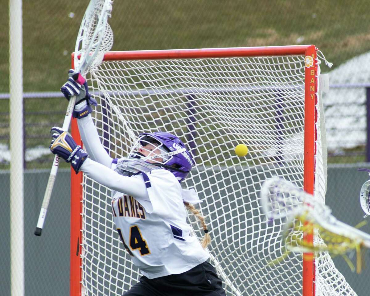 UAlbany goalie Georgia Schneidereith said the team is eager to get back to playing games. (Jim Franco/Times Union archive)