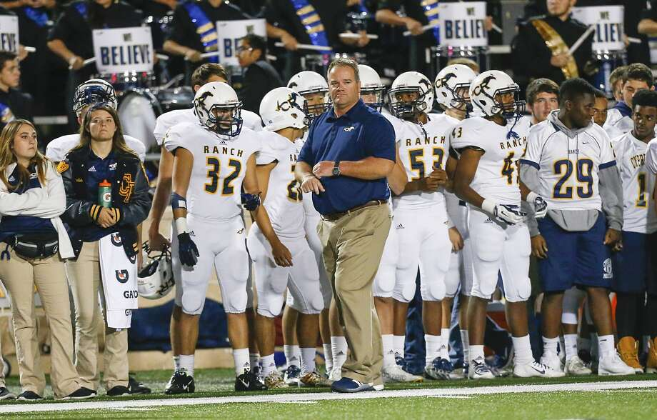 PHOTOS: High school football coaching carousel  Cy Ranch head coach Gene Johnson paces the sidelines as the Mustangs tried to keep up with the Katy Tigers in the 6A DII Area playoffs at Tully Stadium on November 20, 2015.  >>>Browse through the photos for a look at high school football coaching changes before the 2019 season ...  Photo: Diana L. Porter, For The Chronicle / © Diana L. Porter