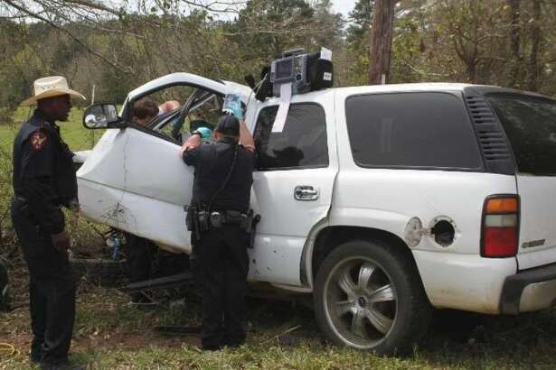 A man was air lifted to a local hospital after he had a medical emergency and crashed his vehicle into several trees Monday afternoon.