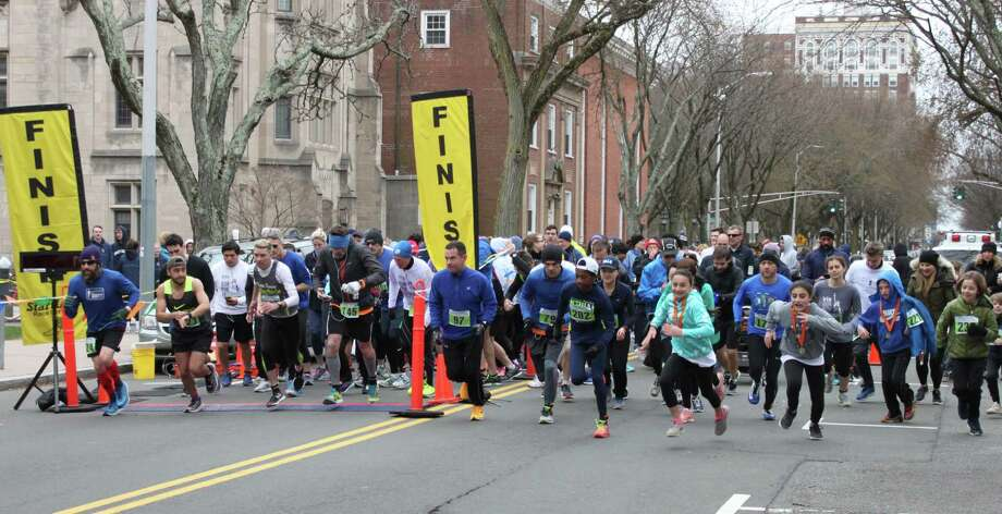 The 20th Annual Julia's Run Road Race will be held April 14 at Yale University's Cross Campus. Photo: Contributed