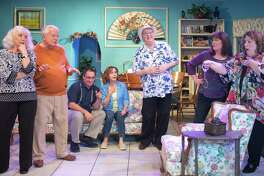 """In Pasadena Little Theatre's production of """"Potato Gumbo,"""" Donna Bane of League City, left, plays a woman determined to flee her Central Texas retirement community so she can attend a New Orleans cooking school. The play was written by former League City resident Jean Ciampi, who planned to attend one of the performances."""